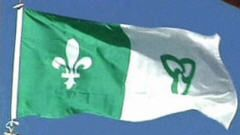 Drapeau franco-ontarien (Photo : Csf, gouv. ont.)