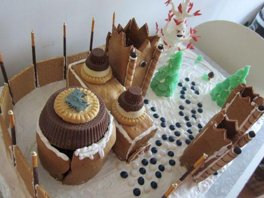 Winterfell (Trône de fer) en pain d'épices