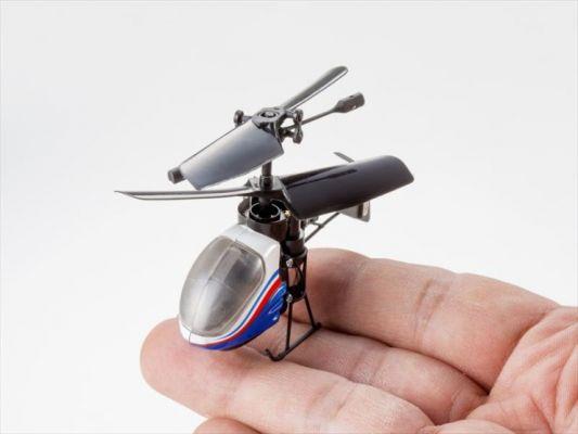 Le Nana Flacon, le plus petit hélicoptère télécomm