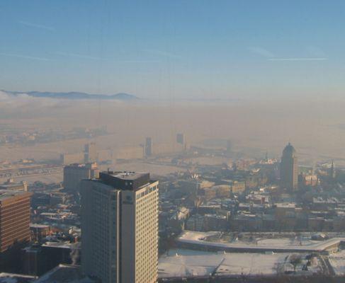 Le smog de Montréal durant l'hiver