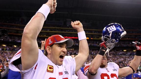 Eli Manning et les Giants de New York