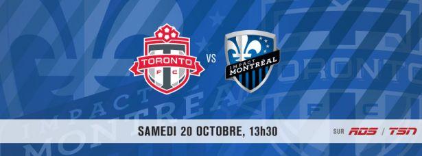 Affiche du match Toronto-Montréal
