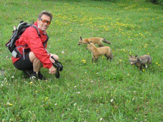Mes amis au sommet du Mont-Sainte-Anne
