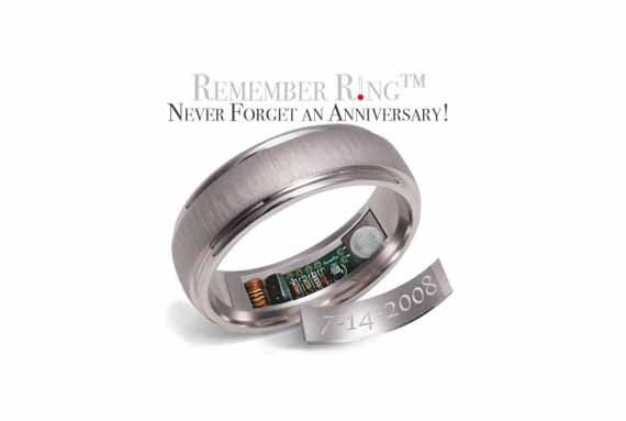 Le Remember Ring vous rappelle la date de votre ma