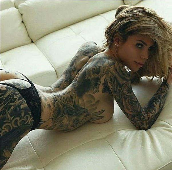 sexy tattoo models naked